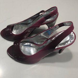 BCBG deep purple heels